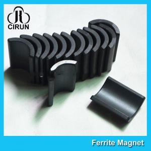 China Y30 Grade Ferite Arc Magnets For Motors , Ferite Ceramic Motor Arc Magnets wholesale