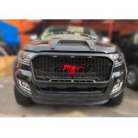 China 2018 New Arrival Black Grille With LED For Ford Ranger PX2 2015-2017 Front Grill Mesh wholesale