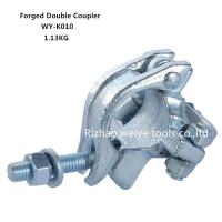 China BS1139 Drop forged double scaffold connectors UK types / Galvanized pipe fittings on sale