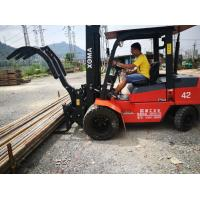 China Reliable Steel Pipe Clamp , Forklift Truck Lifting Attachments For Handling Cylindrical wholesale