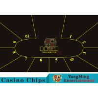 China Good Resilience Casino Table Layout High Density Black Color With Crown Logo wholesale