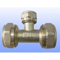 China compression brass fitting reduce tee for PEX-AL-PEX wholesale