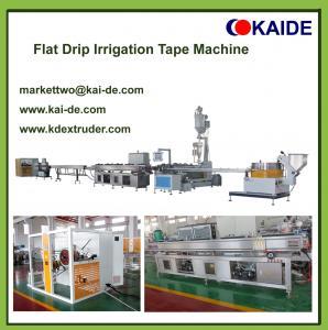 Flat drip irrigation pipe making machine with diameter 12mm-20mm