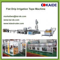 Quality Flat drip irrigation pipe making machine with diameter 12mm-20mm for sale