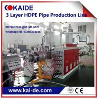 China 20-110mm HDPE irrigation pipe production line three layer High speed Cheap price wholesale