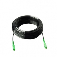 China FTTH Fiber Optic Patch Cord SC / APC  3.0mm Singlemode PVC drop cable on sale