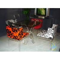 China acrylic high top bar tables and chairs wholesale