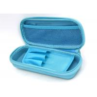 Quality Blue Cool Hard Pencil Box / PU Surface Zip Around Pencil Case , 215*100*45mm for sale