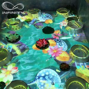 China Children Playground 3D Interactive Floor Projector , Infinity Interactive Floor Projection System wholesale