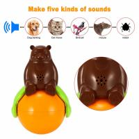 China Inventions Pet Tumbler Toy Sound And Light Ball five kinds of sounds wholesale