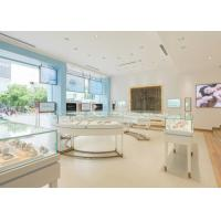 China Perfect Glass Jewelry Display Cases Retail Store Stainless Steel Wooden Material wholesale