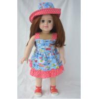 China Blonde gril doll with beautiful dress wholesale