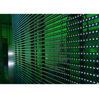 China Flexible LED Video Display Screens , Strips Transparent Wall Facades Screens wholesale
