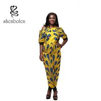 China Summer Women African Style Jumpsuit Strapless Straps Sleeves Loose Piece Pants wholesale