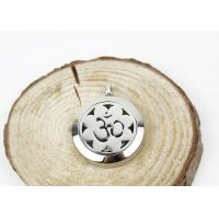 China Hollow Sun Flower Essential Oil Jewelry Diffuser Necklace Locket 6.5mm Thickness wholesale