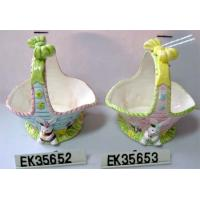 China Easter Decor, Basket (ceramic) on sale
