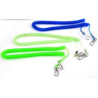China Customized colors elastic safety harness coiled lanyard anti-drop spiral cords for tools wholesale