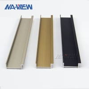 China Porcelain White Black Aluminium Tile Edging Strip 12mm Height wholesale