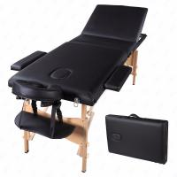 China 3 Fold Portable Massage Table Facial SPA Bed Tattoo w/Free Carry Case Black wholesale