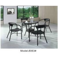 China 5pcs restaurant dining chairs with table-8063 wholesale