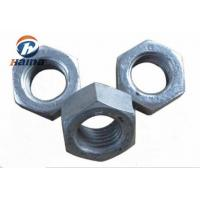 Quality DIN 934 A563  Carbon and Alloy steel nutsGR 2H heavy zinc HDG  hex nut M10-M100 for sale