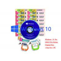China 32/64 bit Windows 10 Product Key Sticker Win 10 Pro COA X20 Online Activate wholesale