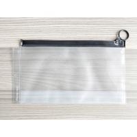 China Frosted PVC Slider Bags Resuable Plastic Ziplock Bag with Ring Puller Easy to Open wholesale