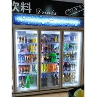 China Vertical Upright Commercial Beverage Cooler For Flower Meat With Glass Door wholesale