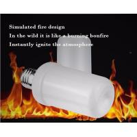 Buy cheap LED Flame Bulb Flash Lighting Mode E27 B22 4.5W CE ROHS dimmable 1400K yellow color PC SMD2835 chip from wholesalers