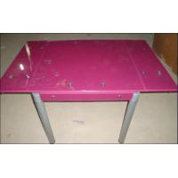 Quality extendable dining table,purple  and  cyan , and black, 800*800(1300)*750mm for sale