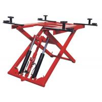 China Low Profile Two Post Hydraulic Auto Lift 1100mm , 380V 2.8T Scissor Car Lift wholesale