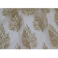 Quality Embroidered Tree Gold Sequin Lace Fabric By The Yard For Wedding Bridal Evening Dress for sale