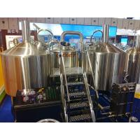 China SUS 304 Craft Beer Brewing Equipment 1000L Brewing System With ISO CE Certificated wholesale