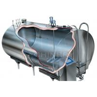 Quality 1000litres Sanitary Milk Cooling Tank 5000L Stainless Steel Milk Refrigeration for sale