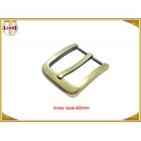 China Gold Zinc Alloy Pin Metal Belt Buckle / Mens Fashion Belt Buckles wholesale