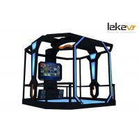 Buy cheap 1600w VR Standing Platform , Interactive Shooting 9D VR Simulator In FEC and Arcades from wholesalers