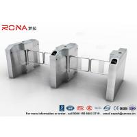 China Fingerprint Entrance Swing Barrier Gate Stainless Steel For Handicap Channel wholesale