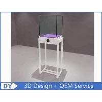 China Simple White Wood Metal Glass Jewelry Display Case / Store Display Showcase wholesale