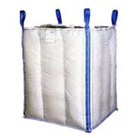 China 1.5 Tons 4 Panel Baffle Big FIBC Bulk Bag Blue / Orange Color For Loading wholesale