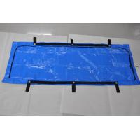 China Chlorine Free Blue Woven PE and PP Body Bags 6 Rivets Secured Handles wholesale