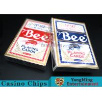 China Bee Dedicated Casino Playing Cards With Exquisite Plastic Box Packaging wholesale