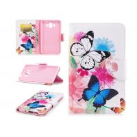 China Colorful Butterfly Card Pocket Phone Case , Cell Phone Wallet Case For Huawei wholesale