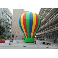 China Customized 8m Advertisement Colorful Ground Balloon Inflatable With Banner Printing wholesale