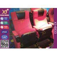 China Water Proof Plastic Cover Movie Theater Chairs , Cinema Seating Furniture on sale