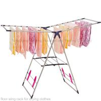 China Low price floor wing rack for drying clothes wholesale