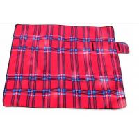 China Red Outdoor Camping Mat Waterproof Picnic Blanket Polyester Sponge Material wholesale