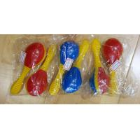 China Plastic Toy Music Instrument , Cute Colored Orff Plastic Maracas wholesale