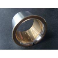 China Main Shaft Bi Metal Bearings CuSn4Pb24 / Steel Flange Bearing wholesale