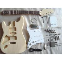 China Unfinished Fender ST DIY Electric Guitar Kits Left Handed Guitar AG-ST2-L wholesale