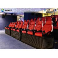 China Fiber Glass Ride Experience 5D Movie Theater Simulator System With Red Chair wholesale